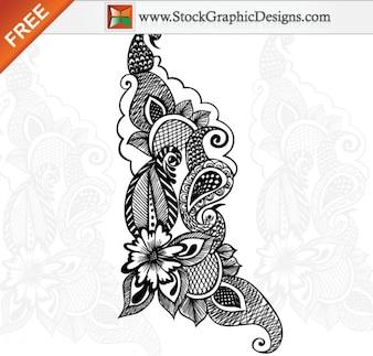 Vectoriales sin Ornamentales Diseño Floral