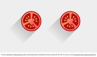Tomate rebanada vector