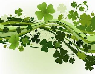 verde, tréboles de ilustración vectorial