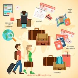 Viaja infografía con las maletas
