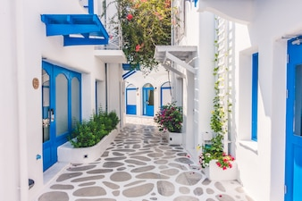 Viajar arquitectura tradicional egeo mediterráneo