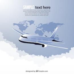 Viajar en avión alrededor del mundo