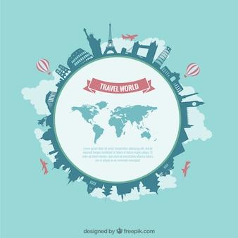 Viajes plantilla mundo
