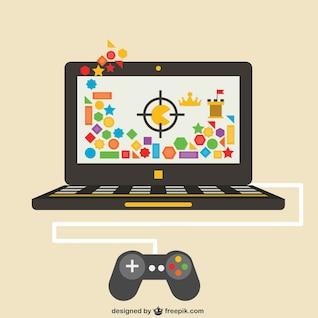 Videojuego en ordenador portátil