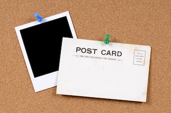 Vieja postal con una foto
