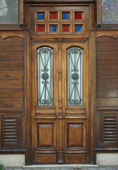 Vieja puerta de madera