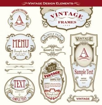 Viejos marcos de botella de la vendimia