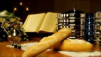 vino de consagrar el pan última cena iglesia