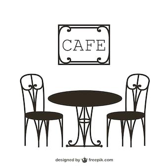 Mesa de cafetería vintage