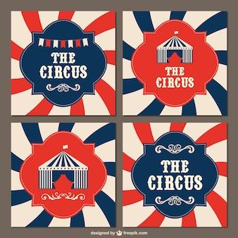 Fondos de circo vintage
