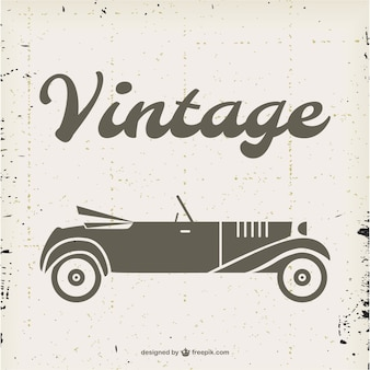 Vector vintage de coche descapotable