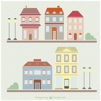 Vectores de casas de época