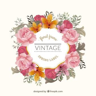 Vintage marco floral