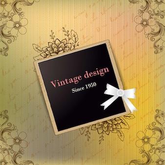 Diseño de polaroid vintage