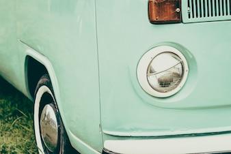 Vintage retro brillante delantera cromada