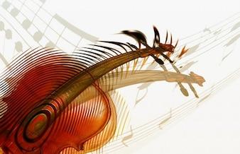 violín música abstracta del arte moderno