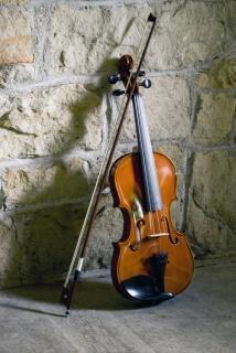 violín y cuerda del arco