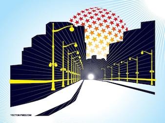 Visión de túnel pasaje arquitectura