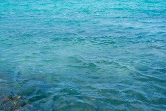 Visión horizontal azul vacaciones sin problemas