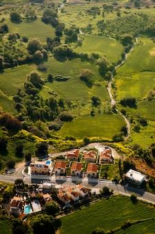 Vista aérea de la zona residencial