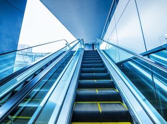 Vista de escalera mecánica