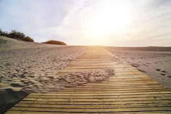 Vista de paisaje de playa