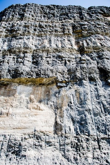 Vista de pared de piedra