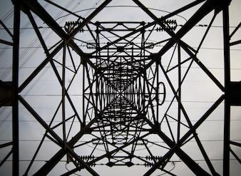 Vista interior de torre de luz