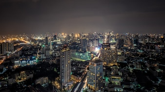 Vista superior de Bangkok, capital de Tailandia