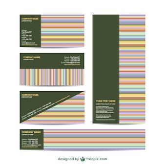 Conjunto de identidad visual con líneas