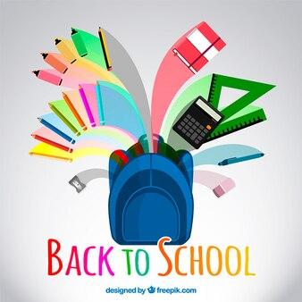 Volver a la ilustración de la escuela en estilo colorido