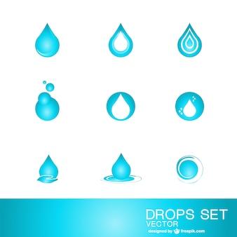 Plantillas de logotipo con gotas de agua