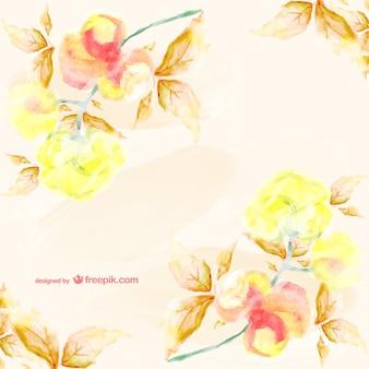 Tarjeta floral estilo acuarela