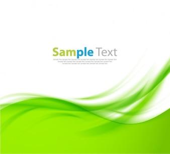 Diseño ondulado de vectores de fondo verde