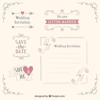 Plantillas de la boda y la decoración
