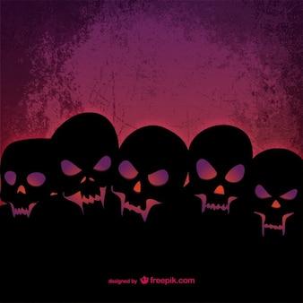 Plantilla de cráneos para Halloween