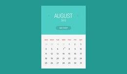 Widget de calendario estilo plano
