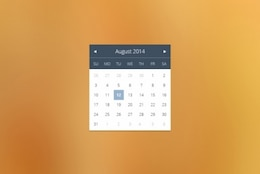 Widget de calendario simple en diseño plano