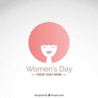 Tarjeta del día de la mujer con la mujer del pelo afro