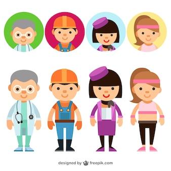 Avatares de trabajadores