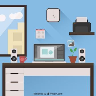 Lugar de trabajo con ordenador