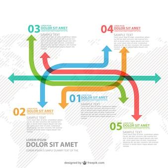 Flechas de todo el mundo infografía