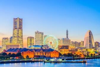 Yokohama horizonte de la ciudad