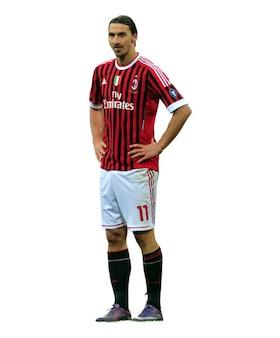 Zlatan Ibrahimovic del AC Milan Serie A