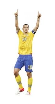 Zlatan Ibrahimovic del equipo nacional de Suecia
