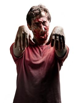 Zombie con un ojo cerrado