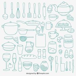 A mano da cucina disegnato