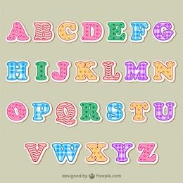 Alfabeto lettere colorate