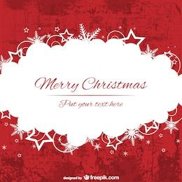 Allegra rosso e bianco modello di sfondo Natale