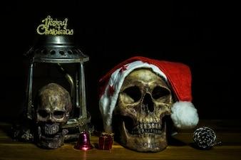Ancora vita con teschio e presente, Santa è venuta in città, concetto oscuro